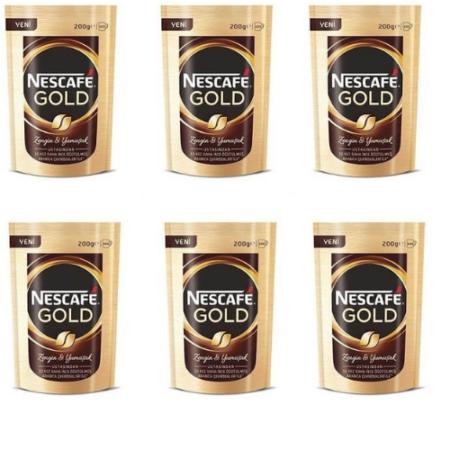 Nescafe Gold Hazır Kahve 200 gr X 6 Paket