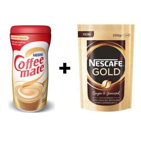 Nescafe Gold 200 Gr+ Süt Tozu 400 Gr