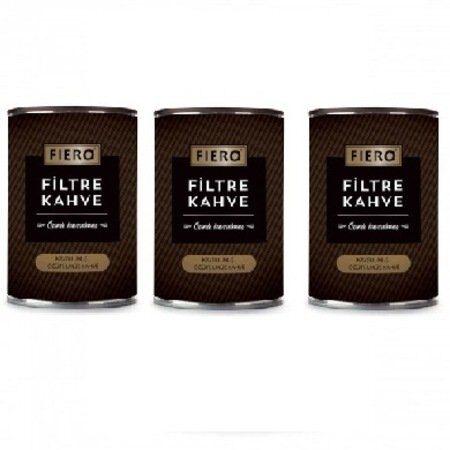 Fiero 454 gr x 3 Adet Filtre Kahve